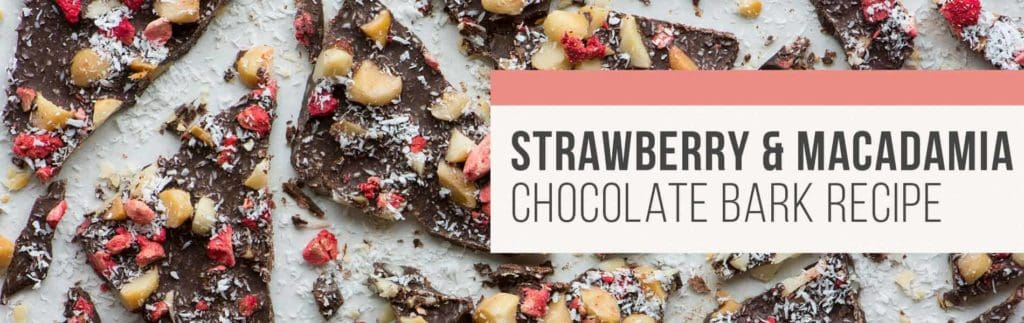Rebecca Coomes The Healthy Gut Strawberry Macadamia Chocolate Bark Blog