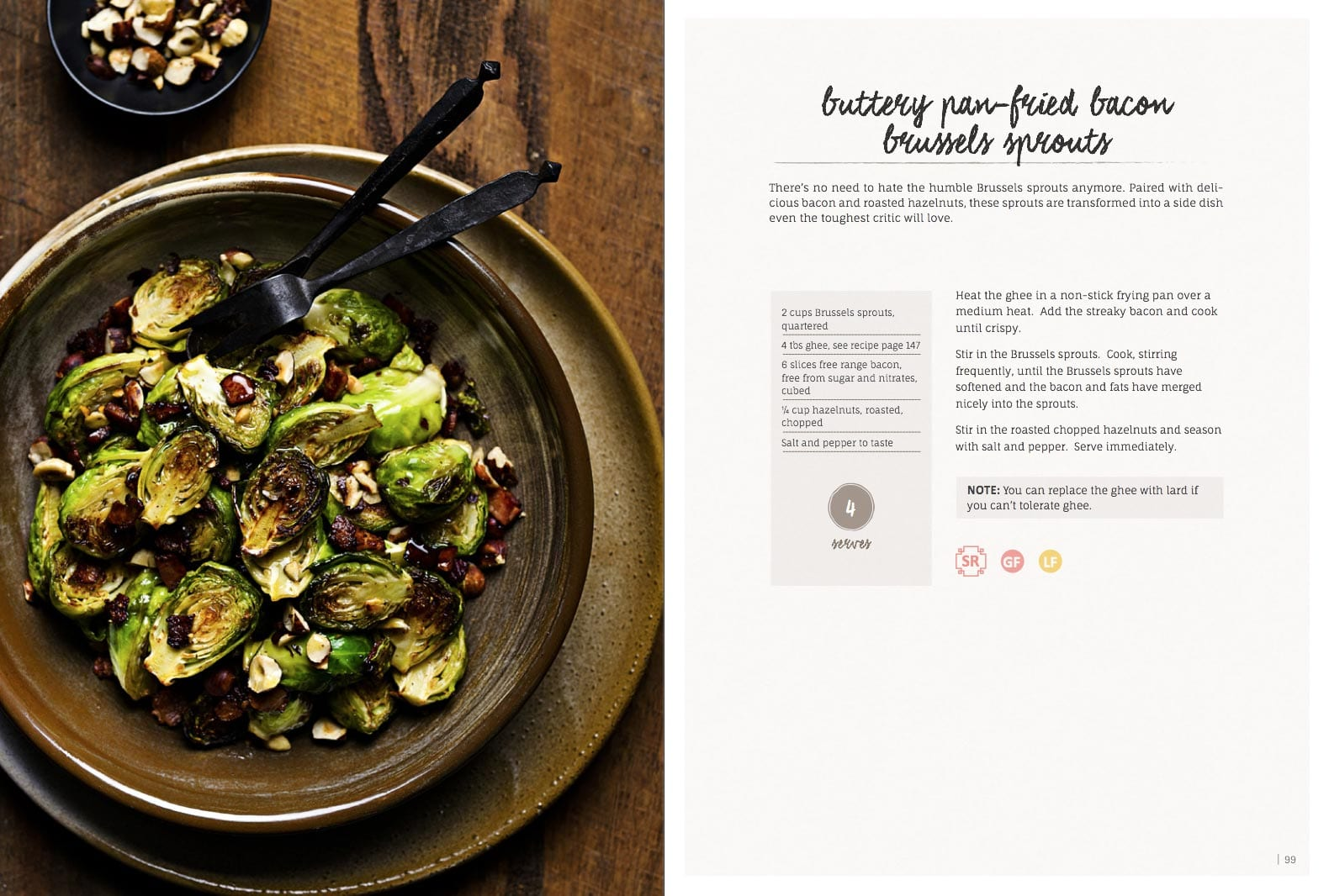 Buttery Pan Fried Bacon Brussels Sprouts
