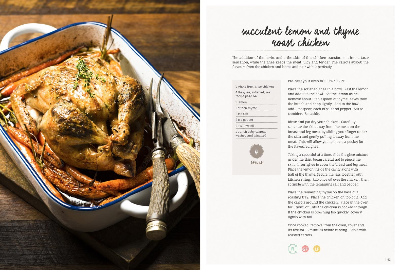 Succulent Lemon And Thyme Roast Chicken