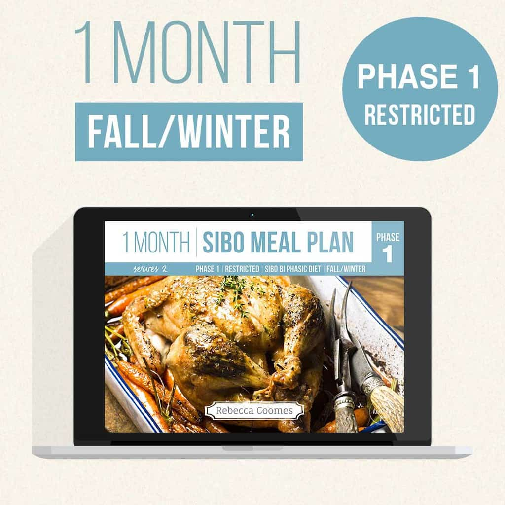 Monthly Sibo Meal Plans Covers Fall Winter