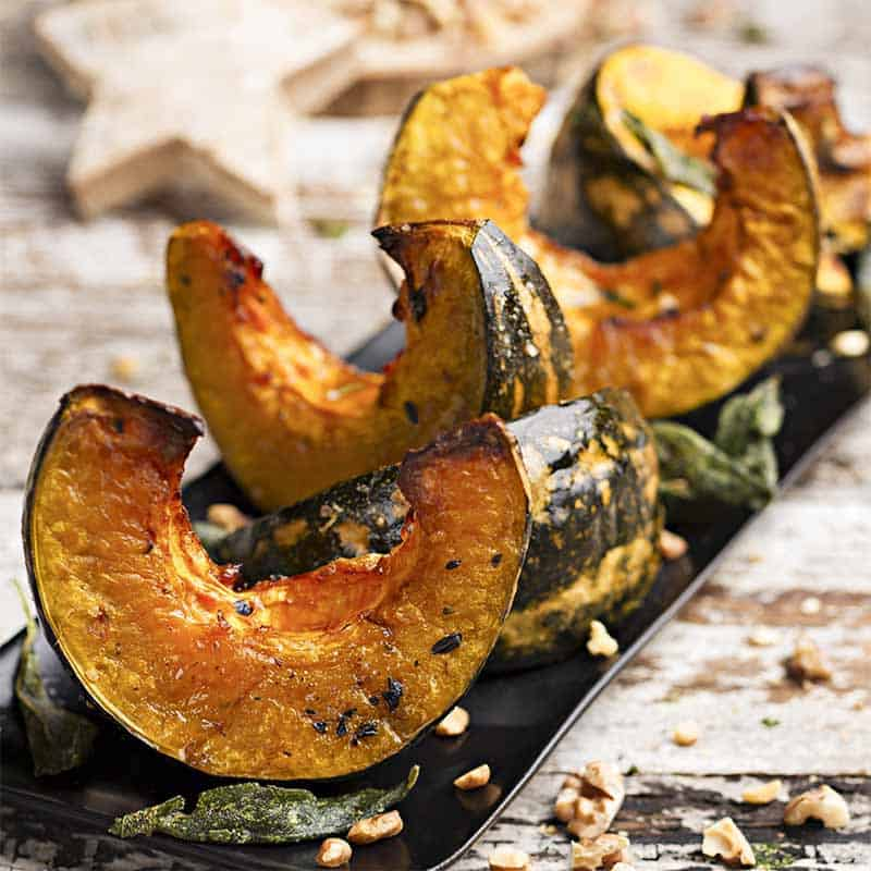 Roasted Pumpkin With Sage And Walnut Recipe 800x800
